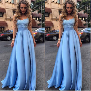 Blue Satin Gowns